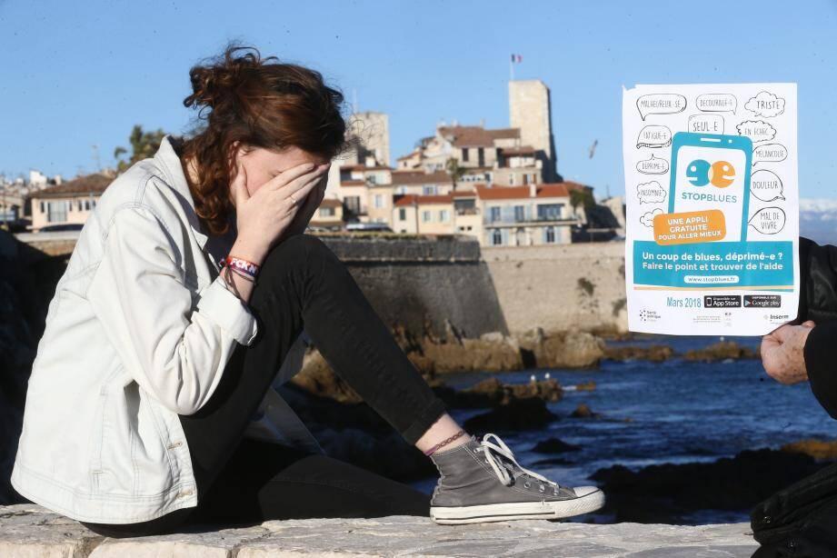 Application STOP BLUES de prévention contre le suicide, testée sur la ville d'Antibes.