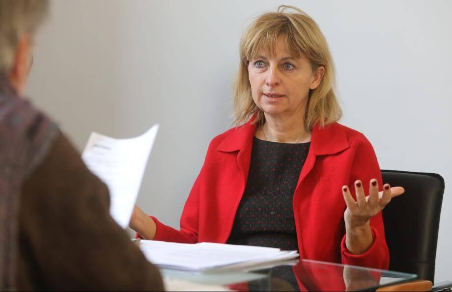 Catherine Le Lan, maire de Vence.