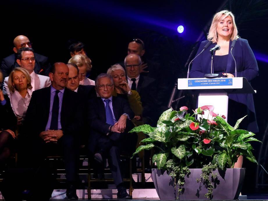 Michèle Tabarot lors de la cérémonie des vœux au Cannet.