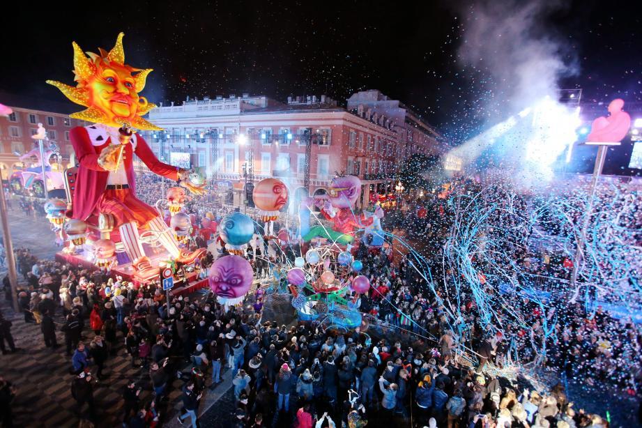 Carnaval de Nice, édition 2017: Roi de l'énergie