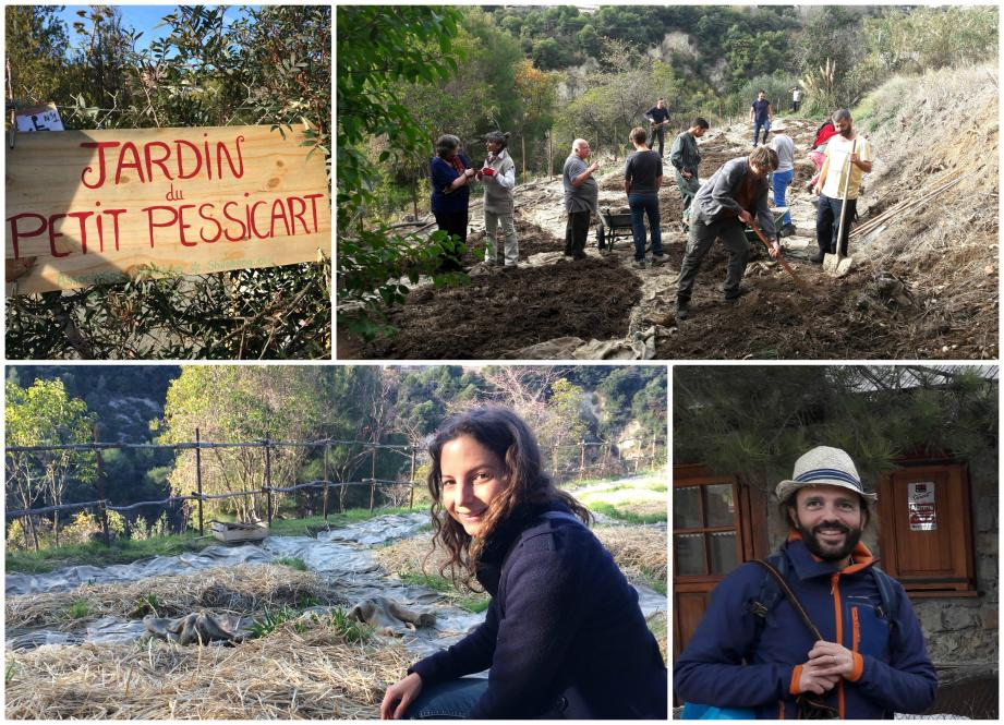 Le terrain d'1 hectare situé colline de Pessicart accueille des ateliers pédagogiques. A l'origine de ce projet: Jade et Olivier.