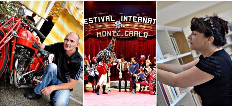 Venez découvrir le premier Salon de la Moto à Roquebrune-Cap-Martin et ses belles mécaniques d'antan. Samedi soir, la Bibliothèque de Menton ouvre ses portes pour une 1e « Nuit de la Lecture », tandis que le cirque de Monte-Carlo a installé sa piste à l'espace Fontvieille.