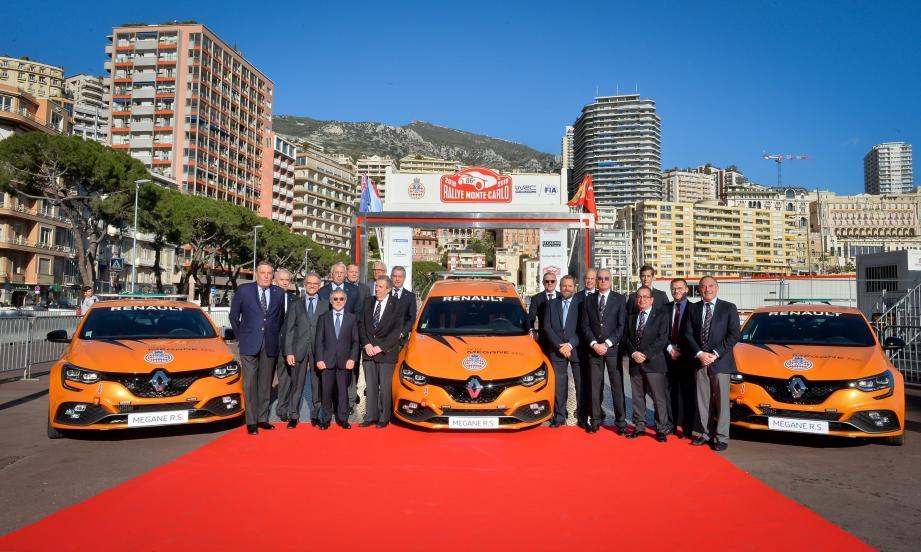 Renault Sport Cars et Patrice Cellario, conseiller de gouvernement - ministre de l'Intérieur.