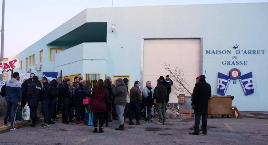 La maison d'arrêt de Grasse lundi matin.