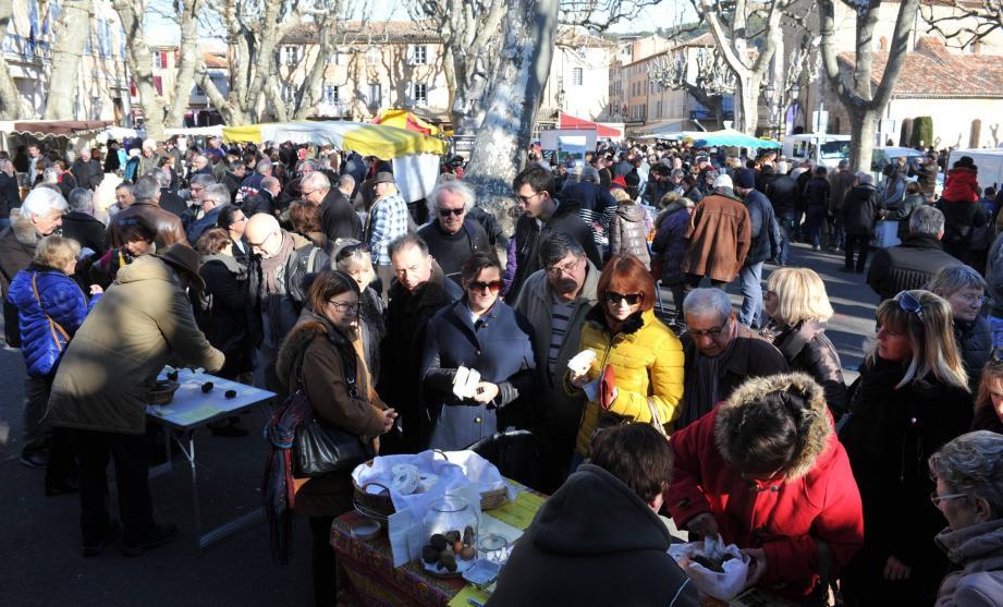 A chaque édition, la journée de la truffe fait le plein de visiteurs.