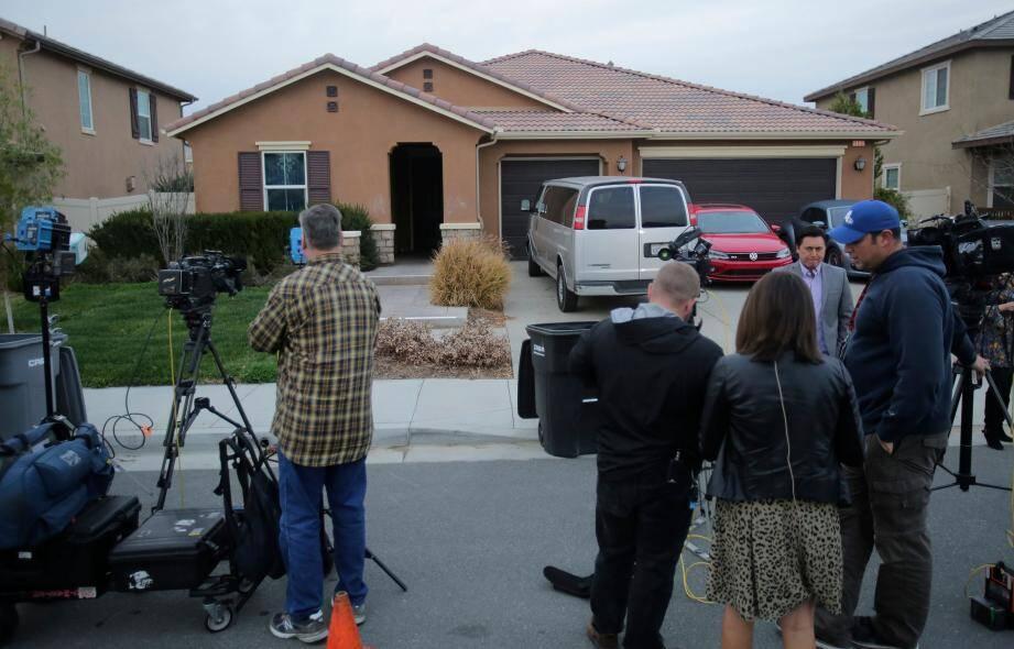 C'est dans cette maison de Perris, en Californie, qu'on été retrouvés les enfants.
