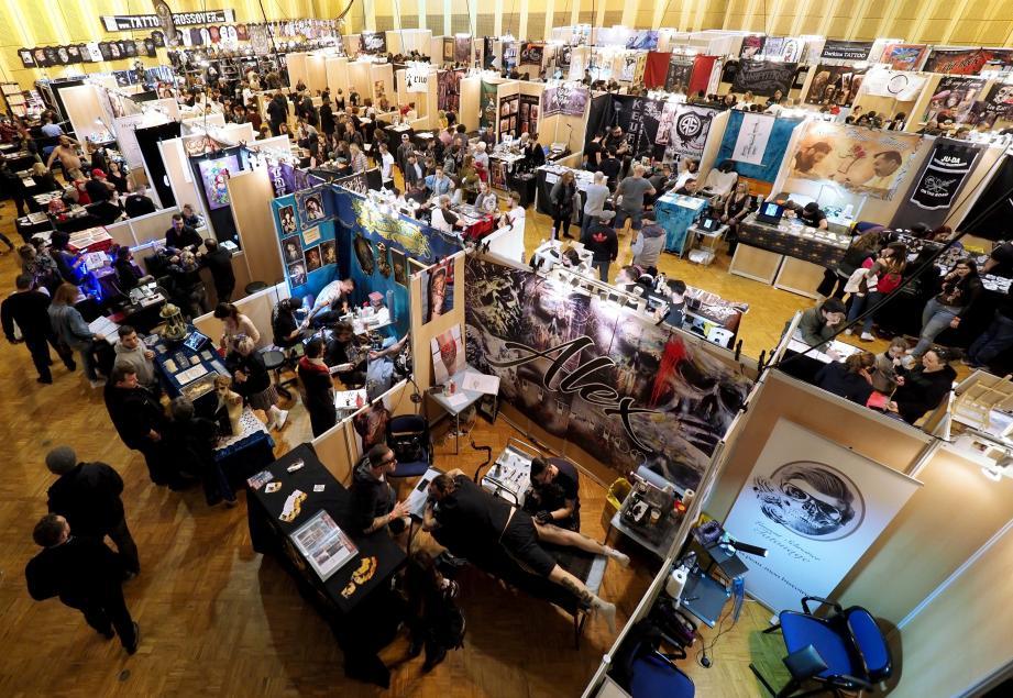 Le premier salon du tatouage de Monaco se tient à l'Espace Léo-Ferré jusqu'à dimanche soir.