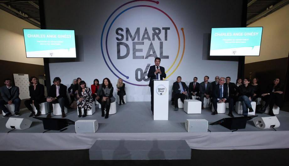 Le président du Département a lancé le Smart Deal: la transition numérique au service des Alpes-Maritimes