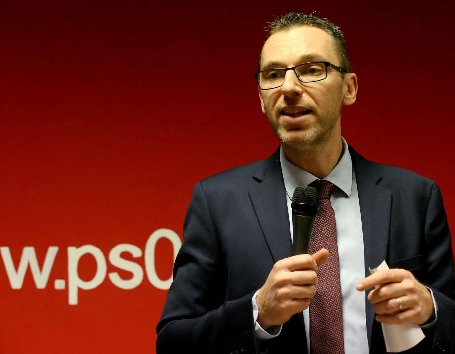 Xavier Garcia, lors de la présentation des voeux à la fédération du PS.