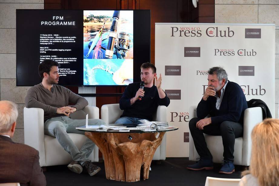 Guillaume Benoit, David Gamba et Patrice Garziglia, invités du Monaco Press Club hier matin.