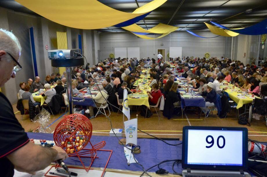 Le 24 février 2017, le loto du Rotary à La Turbie et son animateur avaient réuni 350 joueurs en salle polyvalente.
