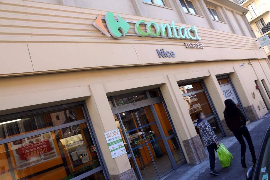 Le magasin Carrefour Contact dans le quartier Pasteur à Nice menacé de fermeture.