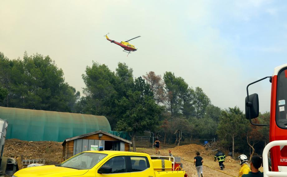 Les bénévoles du CCFD de Peymeinade-Le Tignet sont venus seconder les secours sur l'incendie de Saint-Cézaire-sur-Siagne en août dernier.