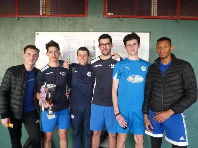 Lorenzo, Hugo, William, Maxime, David, Jérôme et Lucas se sont imposés 4-2 .