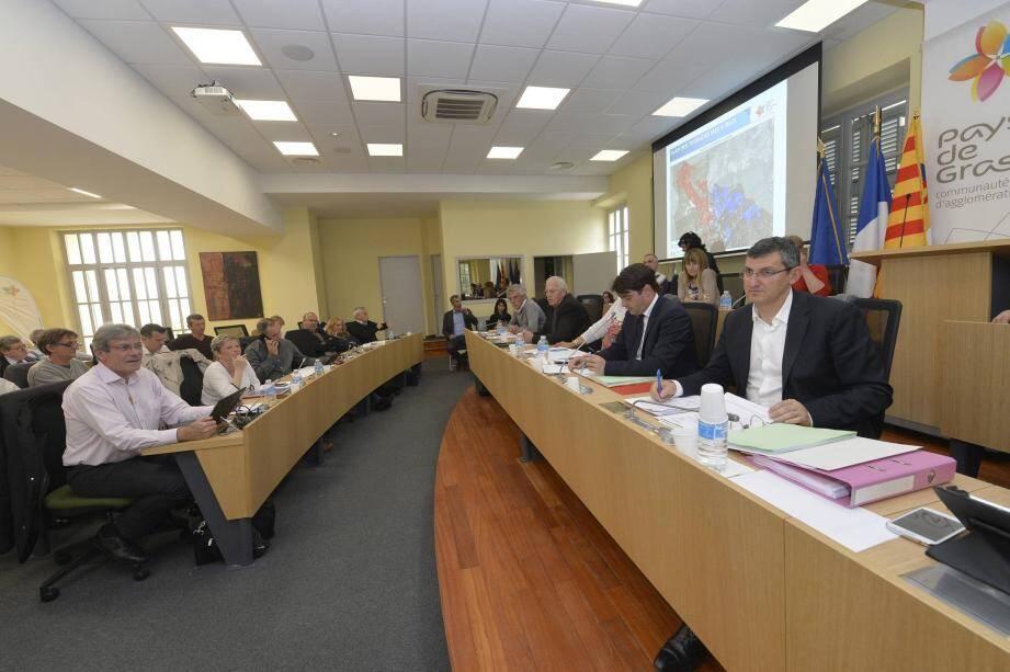 Les élus communautaires des 23 communes de la communauté d'agglomération du pays de Grasse invités à se réunir ce vendredi 9 février à 14 h 30 en conseil d'agglo.