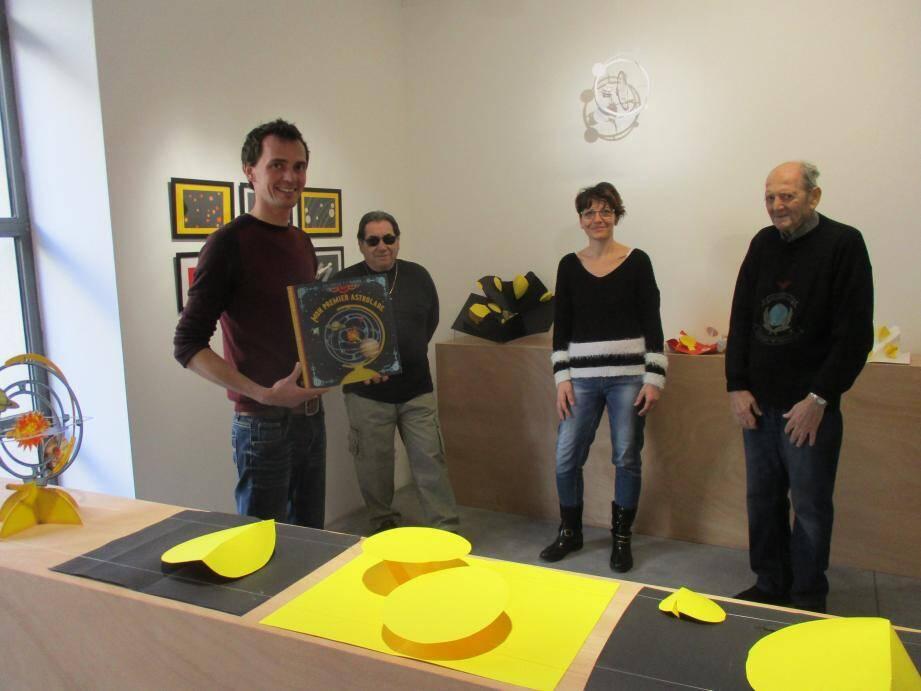 Au Moulin, Paul Rouillac a fait partager à Giro, Valérie et Lucien son travail autour de l'astronomie et des planètes.