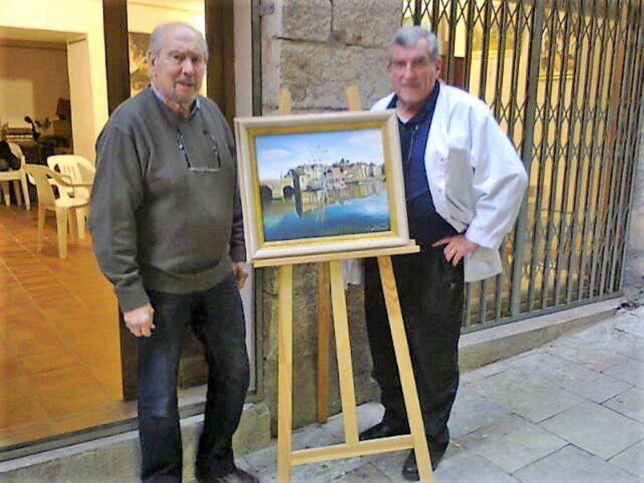 Jean-Pierre Casabianca, à gauche, avec Georges Lallemant.