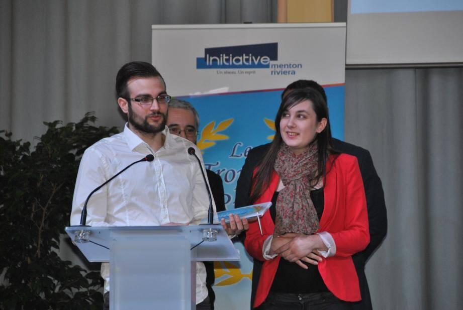 Rafael Pilares Moreno et Marion Bouéri à la soirée des trophées Riviéra.(DR)