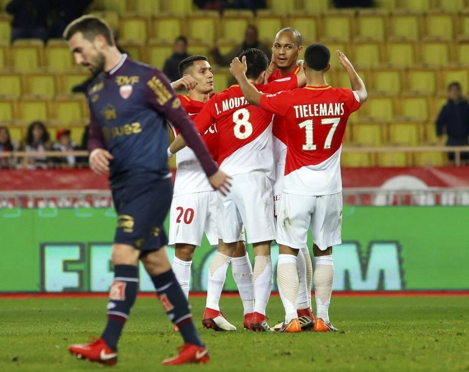 Les hommes de Leonardo Jardim ont inscrit trois buts dans les vingt-cinq dernières minutes de la partie.