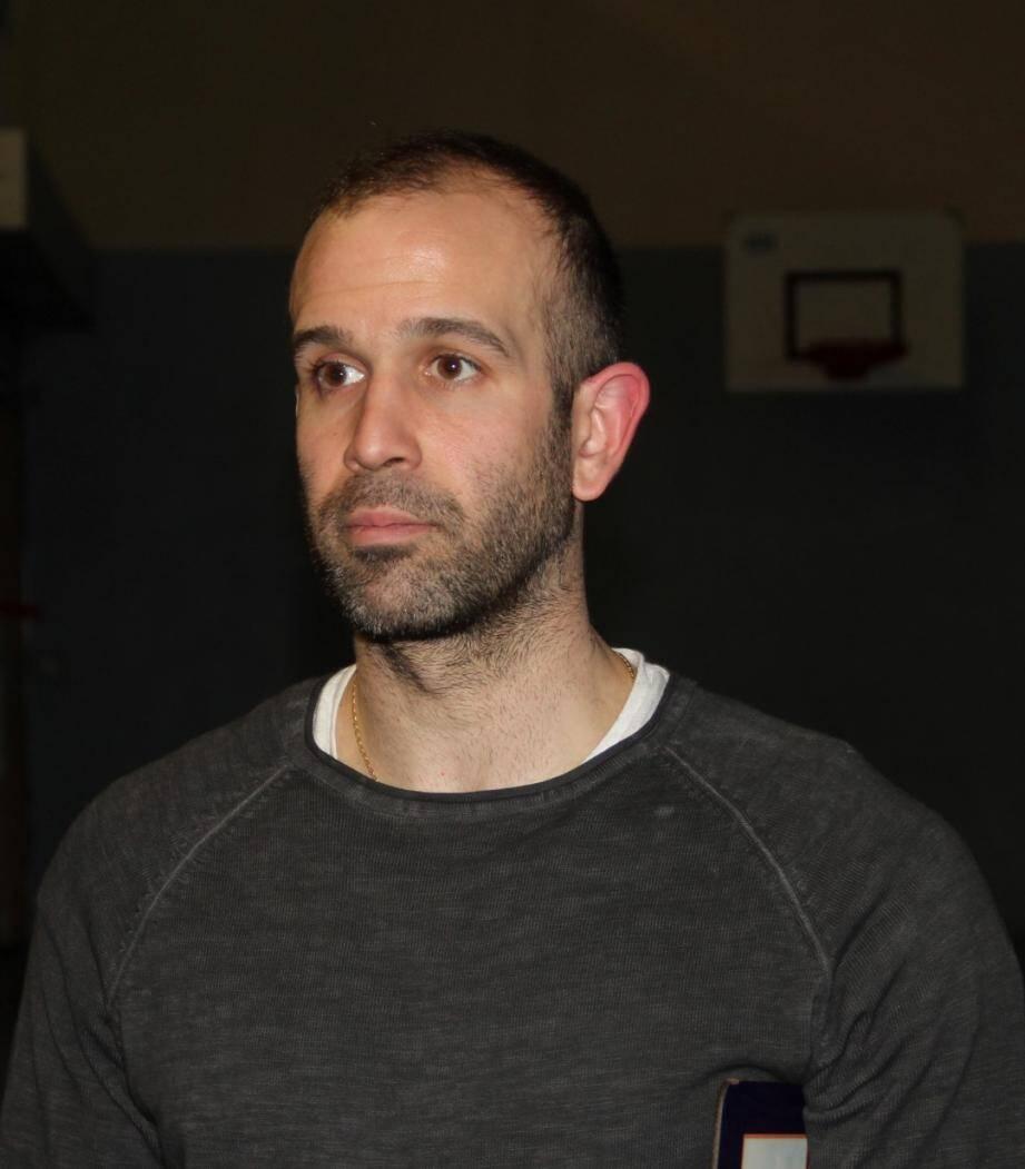 Axel Trifogli a remplacé jean-Luc Cerruti à la tête de l'équipe de N3F de Mandelieu.