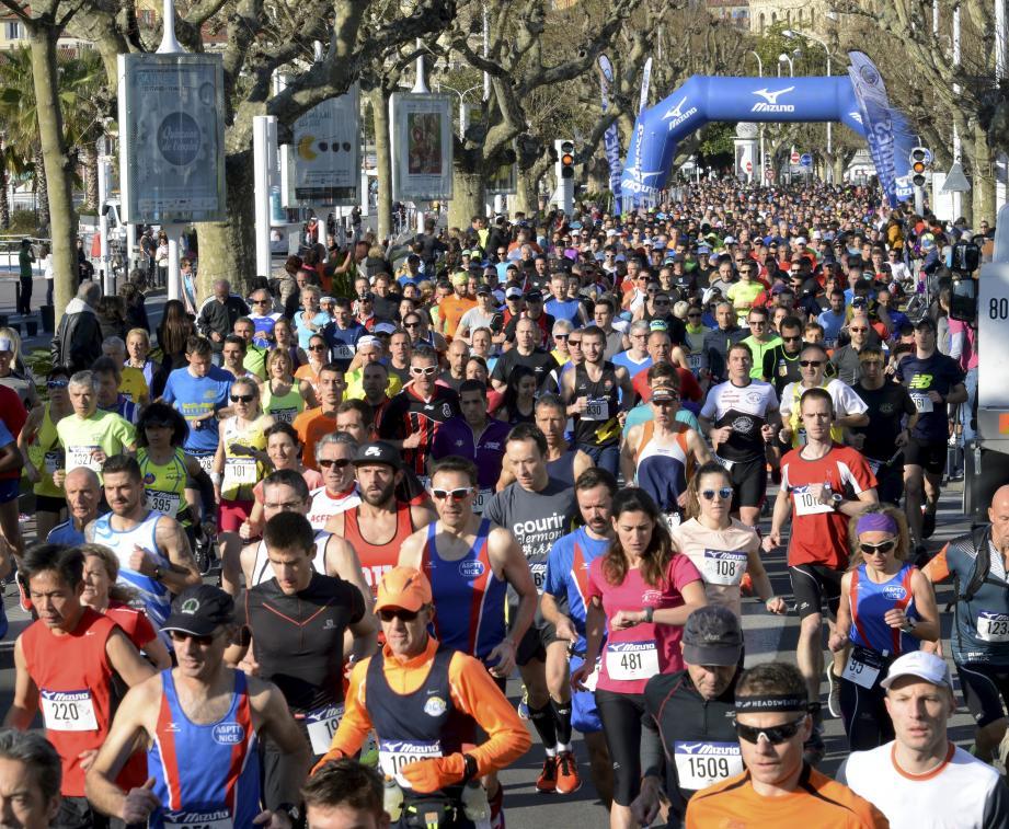 On attend plus 4 000 coureurs dimanche pour le 10 km et le semi de l'AC Cannes.