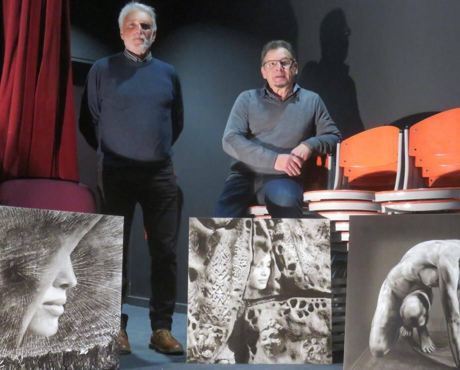 Henri Chiche, président du club Phot'Azur (à gauche), et le photographe Elian Bachini.