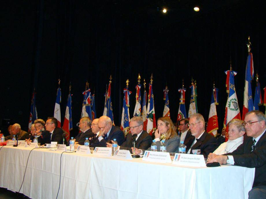 Les adhérents, membres des bureaux départemental et national, et élus se sont retrouvés samedi pour le vingt-troisième congrès de l'Union National des Combatants.