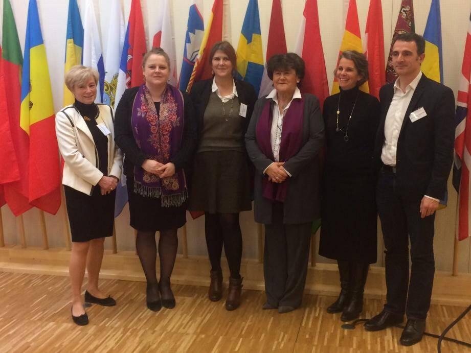 La Ville de Nice était représentée par le docteur Christiane Amiel, conseillère municipale (à gauche), ici avec ses homologues.(DR)