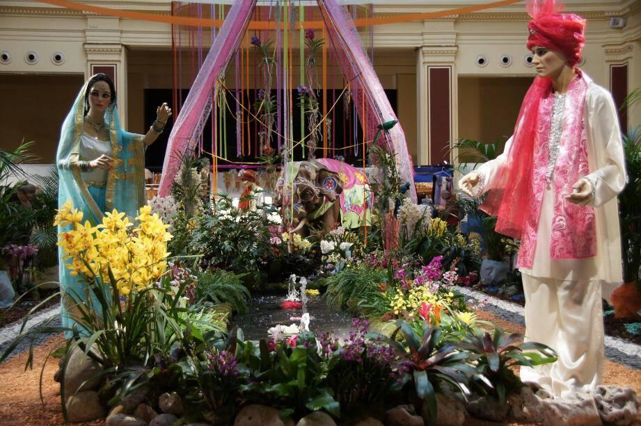 Le festival se poursuit jusqu'à dimanche. A gauche, Colette Lafon et Raoul Braun, membres de l'association des orchidophiles et épiphytophiles de France.