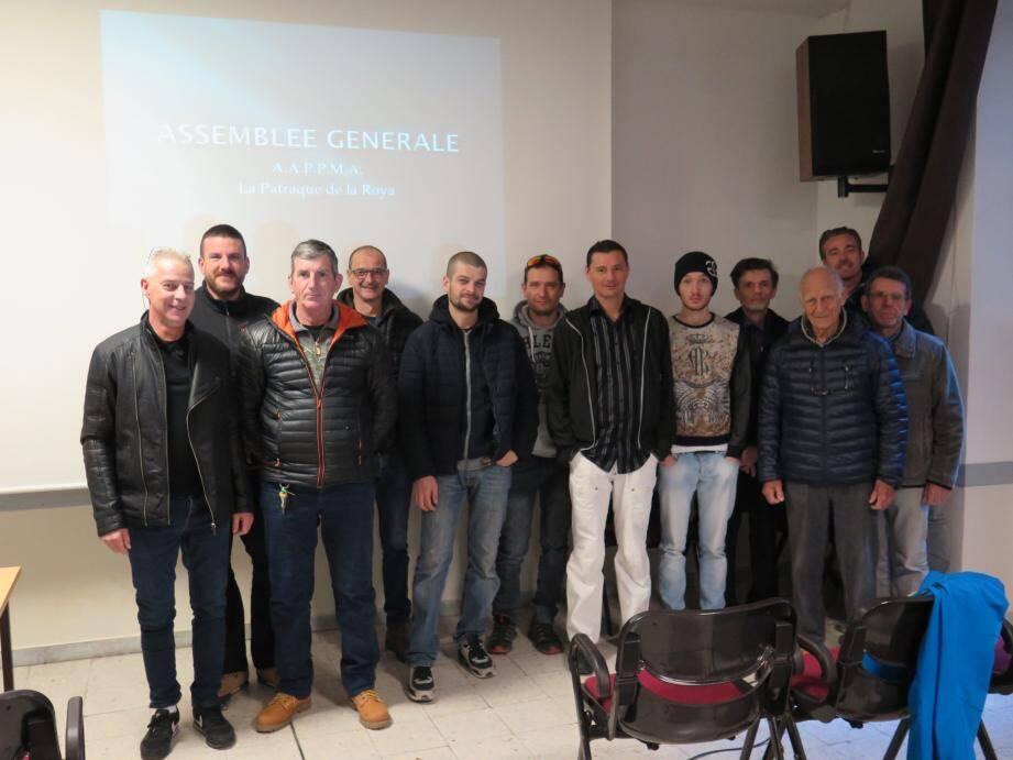 Les membres de la société de pêche présents Crédit_photo