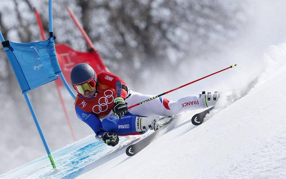 L'Isolien Mathieu Faivre lors de l'épreuve de slalom géant.