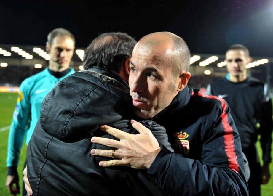 Beaucoup de respect entre les deux coachs.