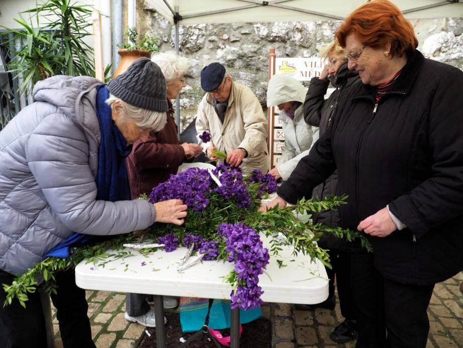 La violette, reine Tourrettes-sur-Loup.