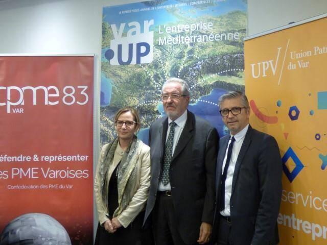 Gérard Cerruti, le président de l'Union patronale du Var (au centre), Véronique Maurel, présidente de la CPME du Var, et Erick Mascaro pour la CCI du Var, organisateurs de l'événement, ont levé le voile sur la nouvelle édition.