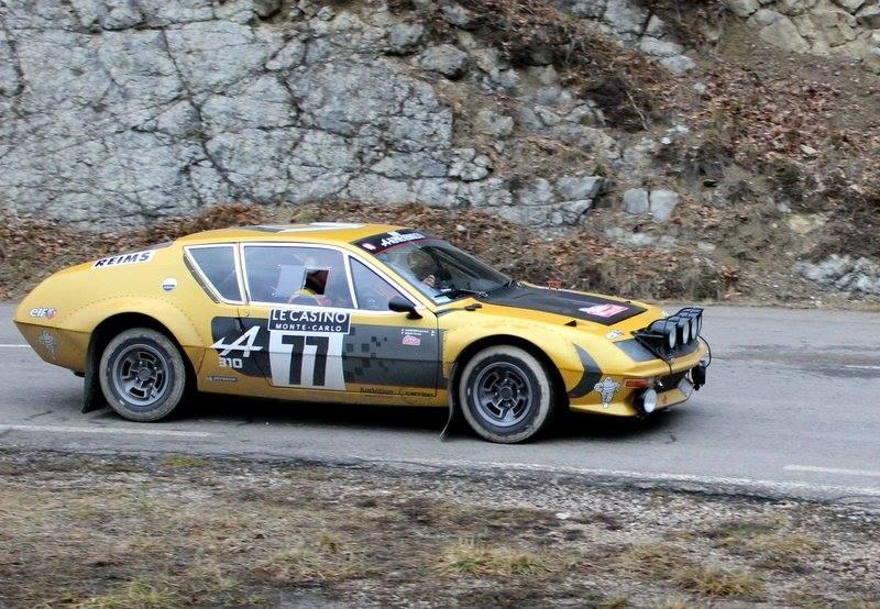 Le pilote Firmin Bour et son copilote Laurent Carrion, au volant de l'Alpine A310 de1974.
