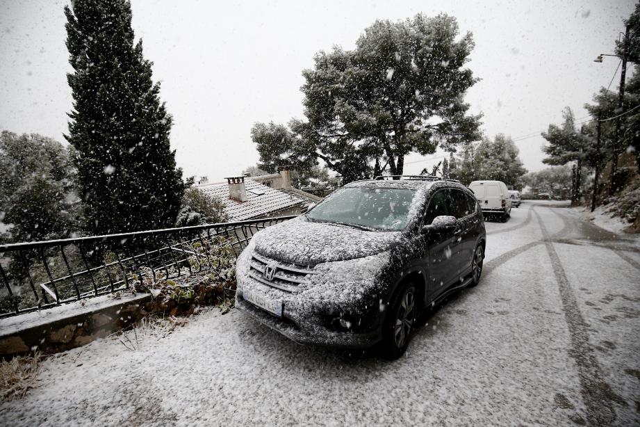 Illustration neige à Toulon.
