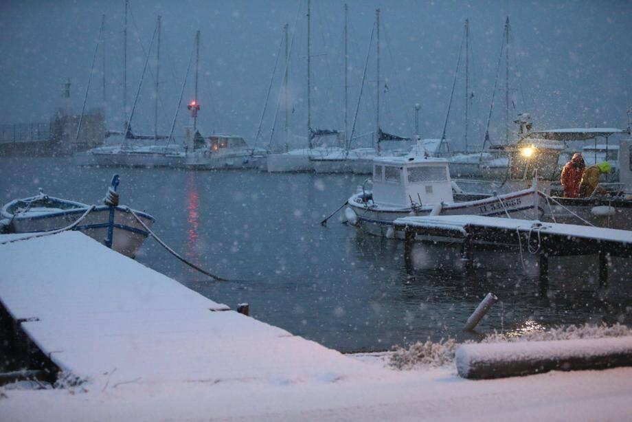 Neige à Hyères.