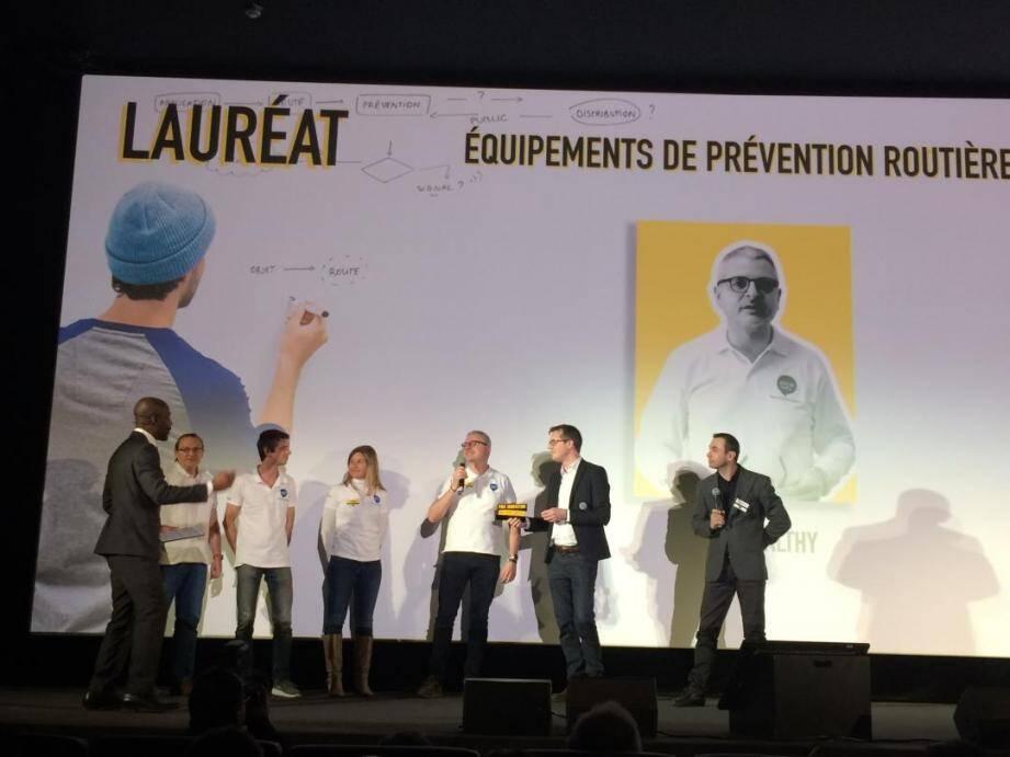 Ellcie-Healthy et ses lunettes connectées permettant de lutter contre l'endormissement au volant ont séduit le jury des Prix innovation sécurité routière.