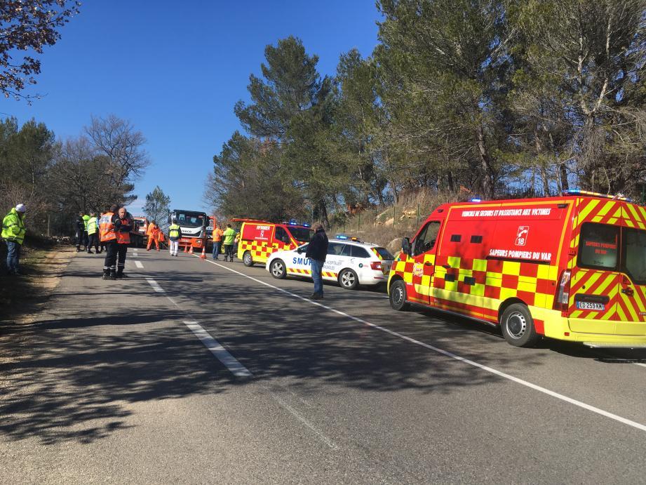 Une personne grièvement blessée après un accident de la route sur RDN7