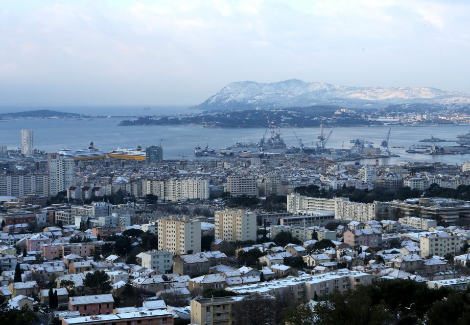 La rade de Toulon.