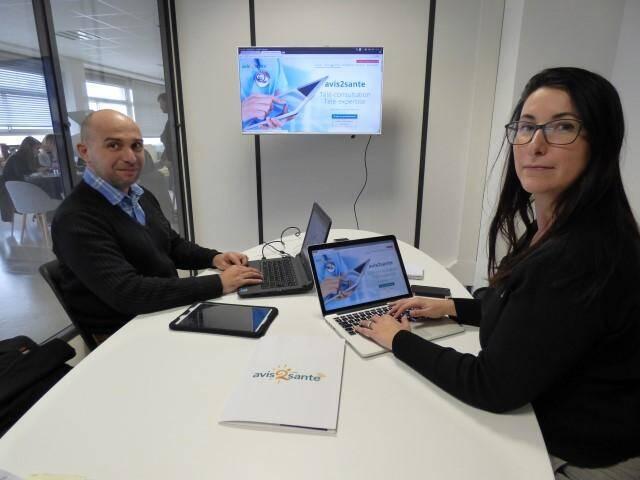"""Viviana Peretto et Jean-Marc Vieux ont créé un cabinet médical dématérialisé, """"une sorte de couteau suisse"""" accessible aux médecins et leurs patients depuis un ordi, une tablette, un smartphone. Leur slogan: """"Votre médecin partout avec vous."""""""