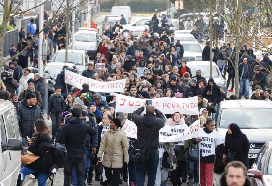 Une manifestation s'était déroulée à Aulnay en soutien à Théo.