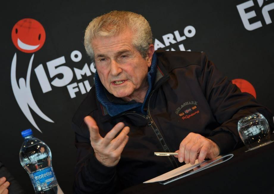 Claude Lelouch est le président du jury du Monte Carlo Film Festival.
