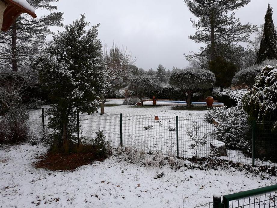 La neige à Garéoult, ce mercredi 21 février.