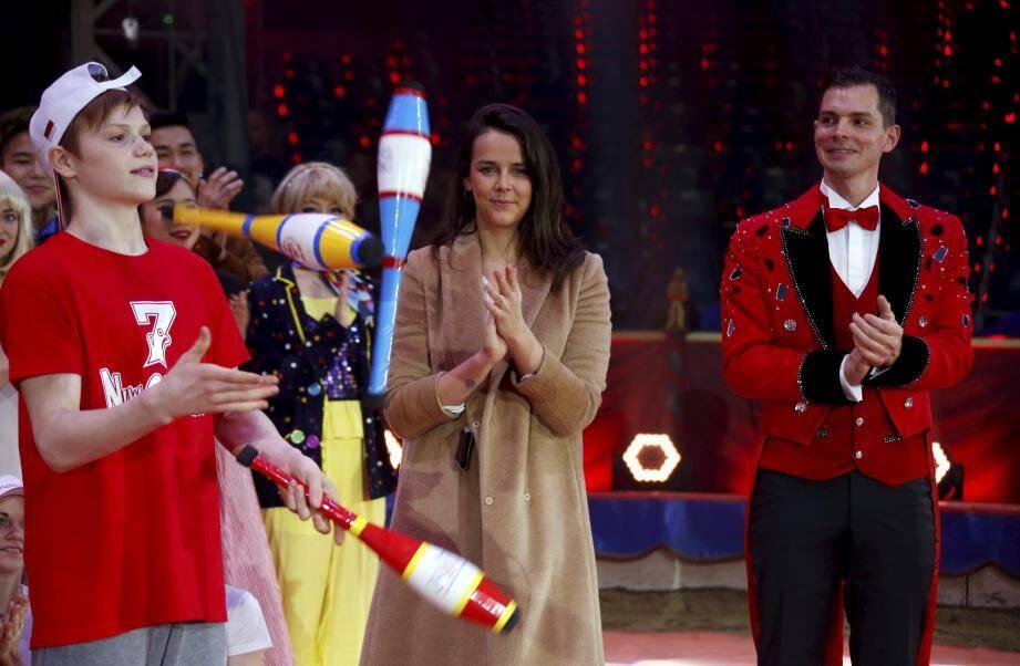 Lancement du 7ème festival du cirque new generation de Monte-Carlo au chapiteau de Fontvieille de Monaco en présence de la princesse Stéphanie et de la présidente du festival Pauline Ducruet