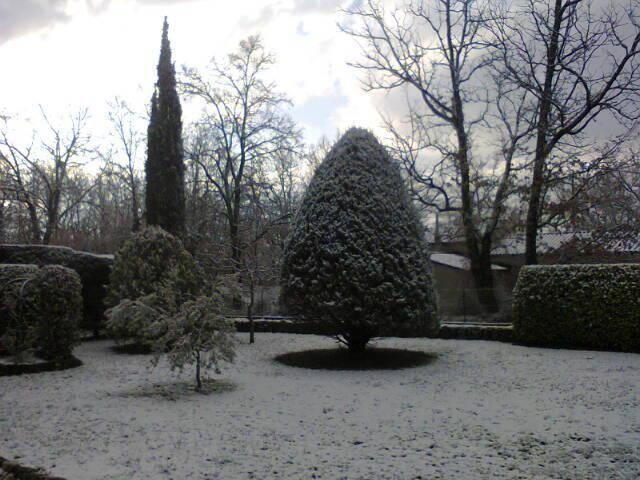 La neige à Saint-Cézaire.