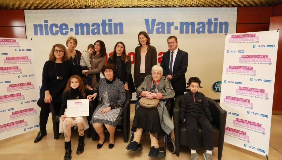 Les lauréats en compagnie de Catherine Roig, directrice de la rédaction de Version Femina, et de Denis Carreaux, directeur des rédactions du groupe Nice-Matin.