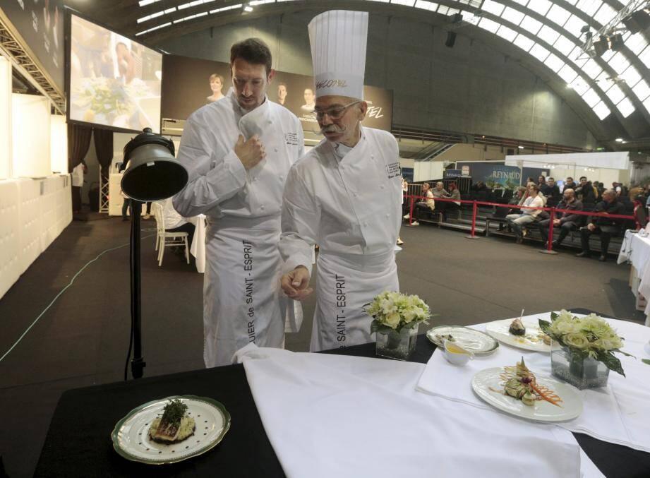 Le nageur Alain Bernard et le chef Christian Morisset ont obtenu la première place du concours Pro-Am des Maîtres-restaurateurs.
