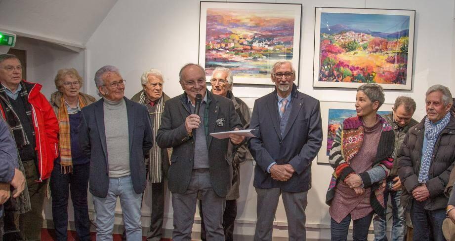 Les œuvres de Jacques Moncho et de Sak sont exposées à la Tour Carrée jusqu'au 15 avril. Ici lors du vernissage.