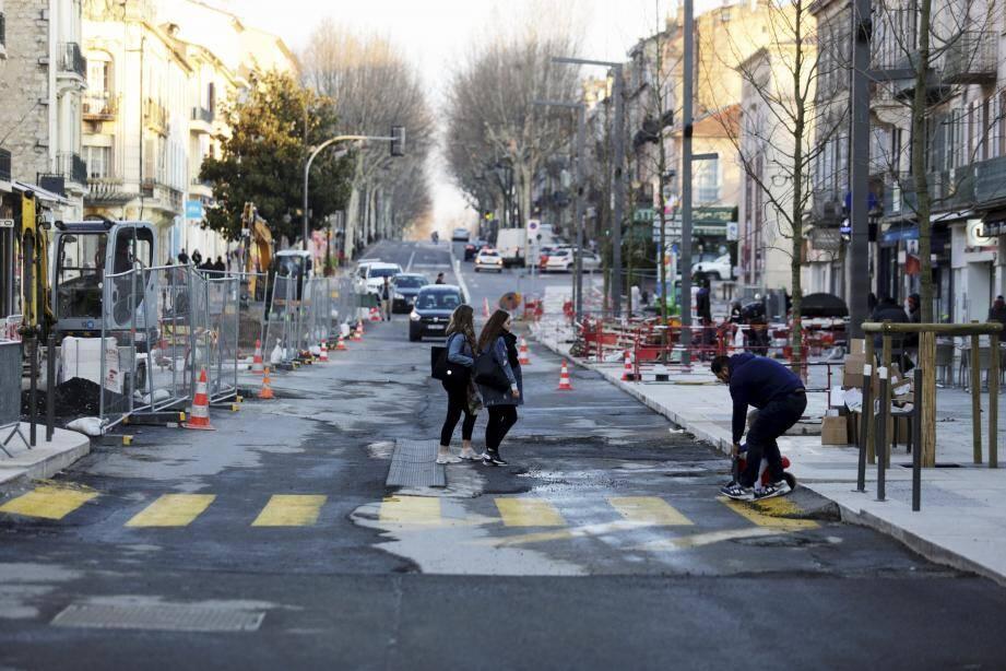 Le dernier tronçon du boulevard Clemenceau va bientôt être terminé.